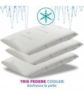 tris di federe cooler rinfrescanti per cuscini
