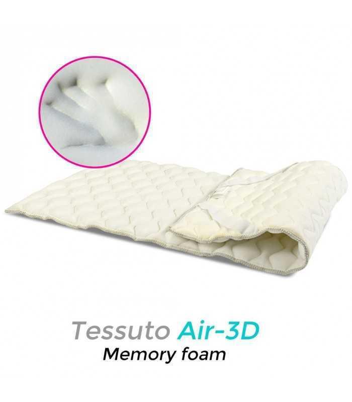 Topper traspirante con memory foam