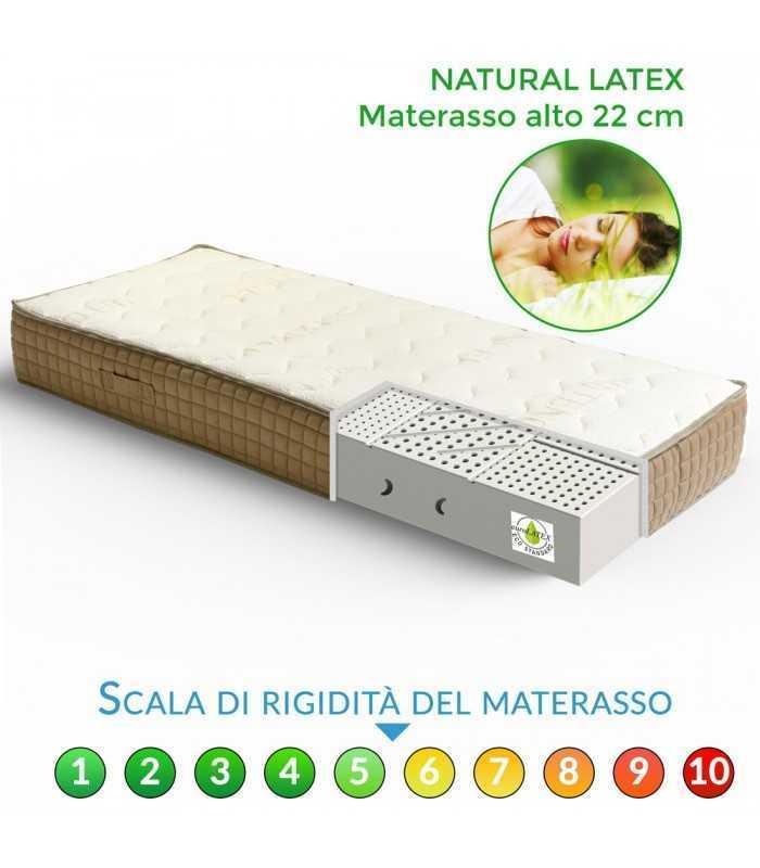 Prezzi Dei Materassi In Lattice.Materasso Vero Lattice Naturale A Zone Differenziate E Tessuto Bio H22