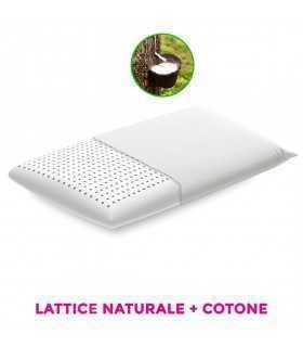 Cuscino lattice naturale con tessuto cotone