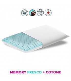 Cuscino con sezione in morbido polargel rinfrescante e tessuto cotone